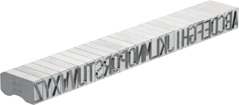 X-MC S 8/12 Sharp-tipped, wide letter and number characters for stamping identification markings onto metal