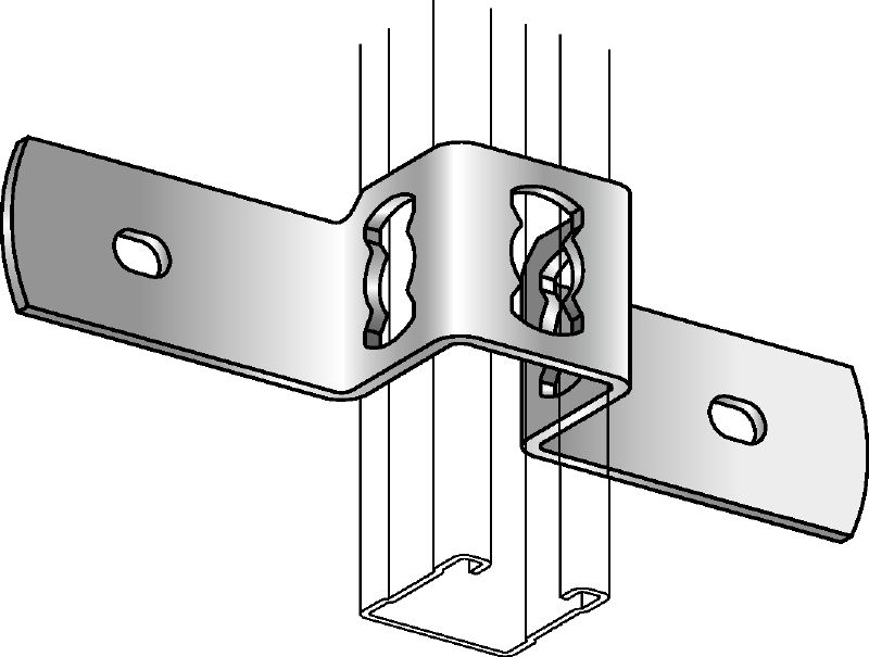 MQB-F Hot-dip galvanized clamp (channel to concrete)